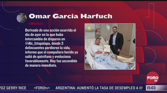 policia herido en ataque de la alcaldia iztapalapa evoluciona favorablemente harfuch