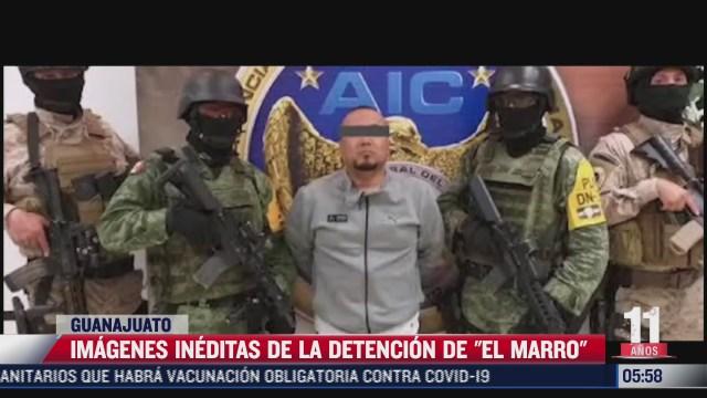 presentan imagenes ineditas de la detencion de el marro