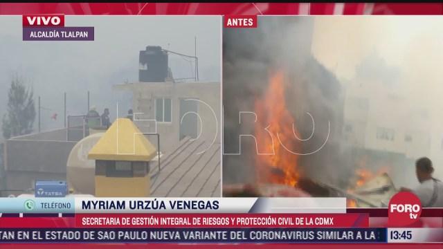 proteccion civil cdmx pide a poblacion no acercarse a zonas de incendios forestales