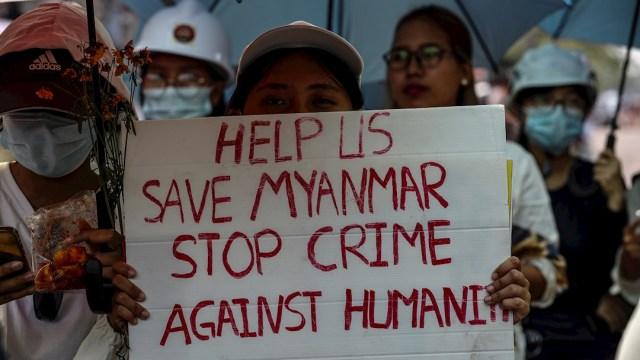 nueva jornada de protestas masivas por todo el país contra el golpe de Estado militar del pasado 1 de febrero