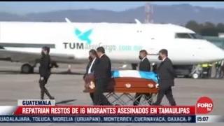 repatrian restos de 16 migrantes asesinados en tamaulipas