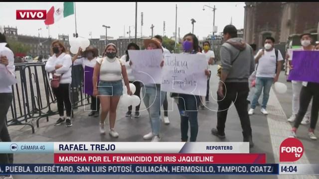 se manifiestan en el centro historico por el feminicidio de iris jaqueline