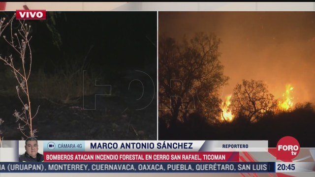 se registra incendio de pastizales en cerro de san rafael ticoman