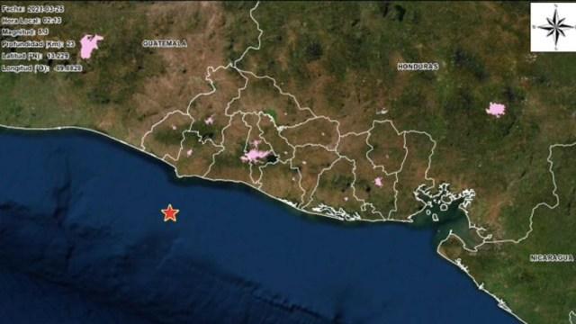 Sismo de magnitud 5.3 se registra en El Salvador