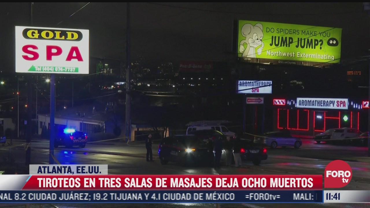 tres tiroteos en salas de masajes dejan 8 muertos en atlanta
