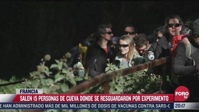 15 personas salen de una cueva tras permanecer confinados 40 dias