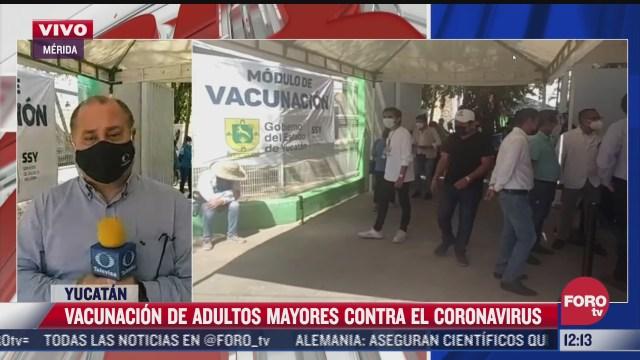 150 mil adultos mayores han sido vacunados contra covid 19 en yucatan