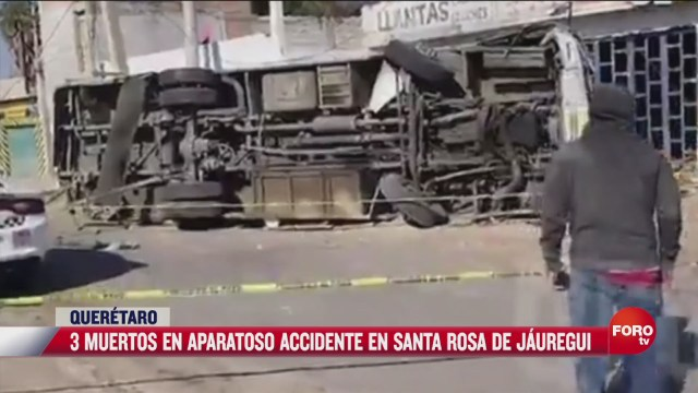 3 muertos en aparatoso accidente en queretaro