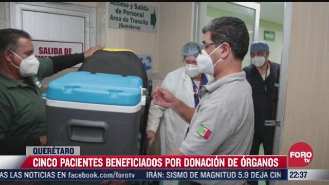 5 pacientes beneficiados por donacion de organos