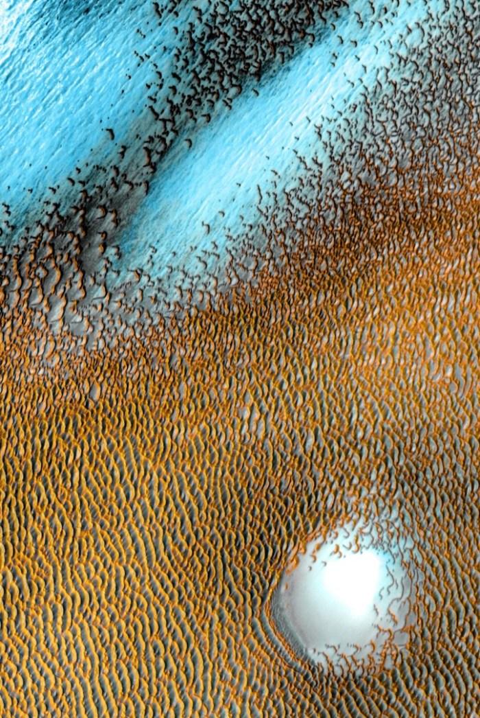 La foto de las dunas azules de Marte tomada por la NASA