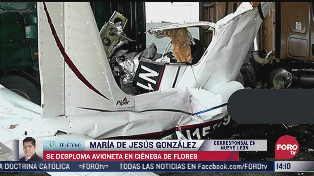 al menos seis personas muertas tras colapso de avioneta en nuevo leon
