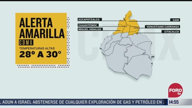 alerta amarilla por altas temperaturas en cdmx 15 de marzo del