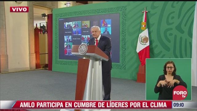 amlo participa en cumbre virtual sobre clima