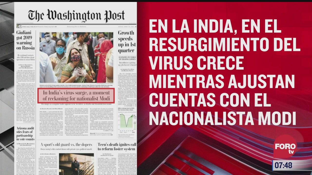 analisis de las portadas nacionales e internacionales del 30 de abril del