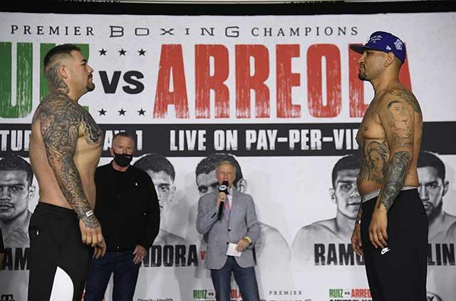 Andy Ruiz y su increíble cambio previo a pelea Chris Arreola