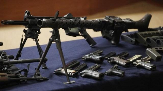 Armas decomisadas al CJNG