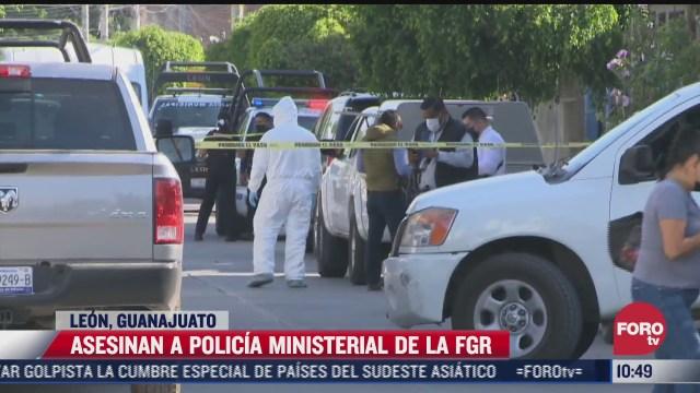 asesinan a policia ministerial de la fgr en leon guanajuato