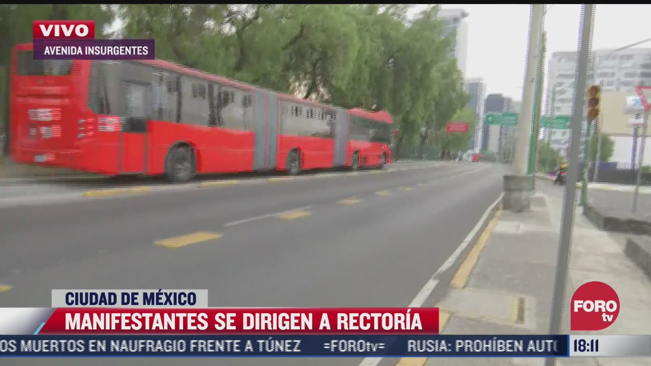 avenida insurgentes sur es liberada tras manifestacion