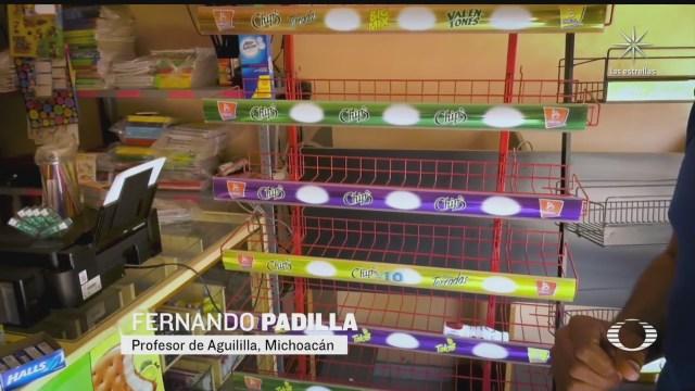 bloqueos provocan escasez en aguililla michoacan
