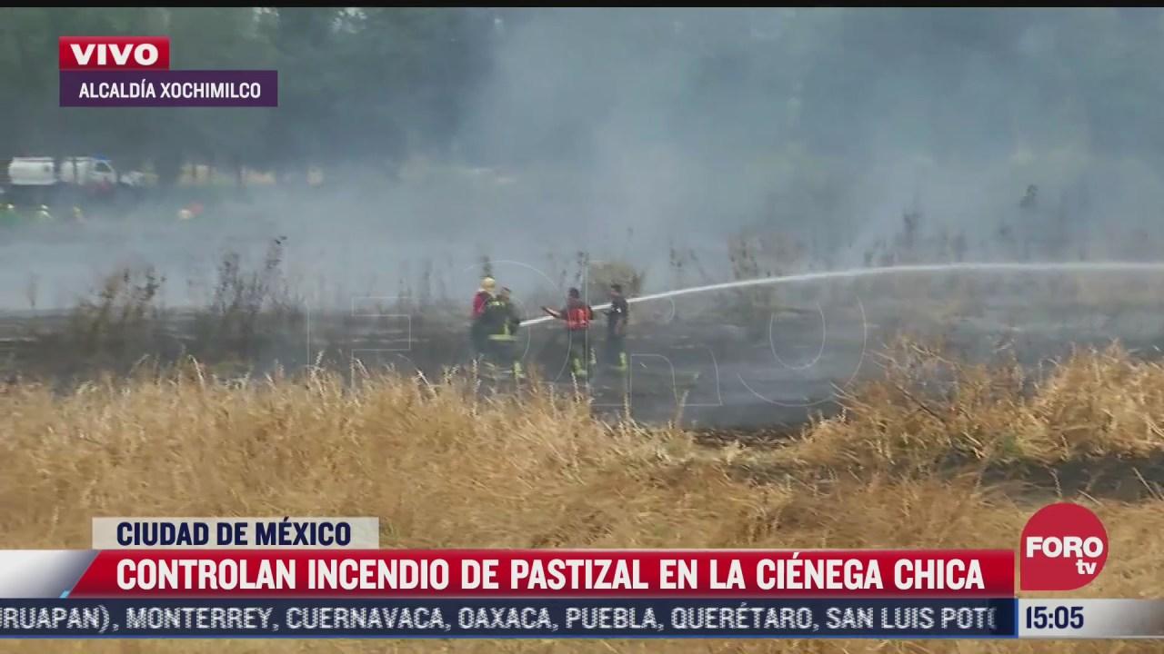 bomberos controlan incendio en cienega chica de la cdmx