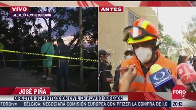 buscan a dos trabajadores sepultados tras derrumbe el alvaro obregon