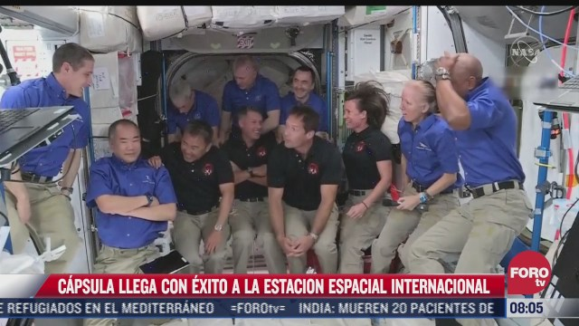 capsula llega con exito a la estacion espacial internacional