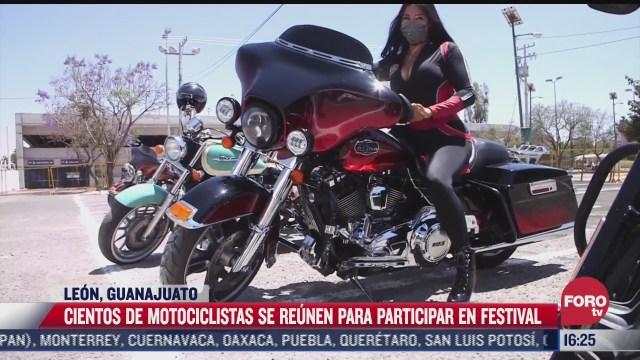 cientos de motociclistas se reunen en leon guanajuato