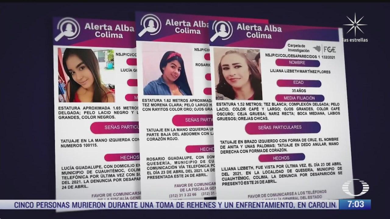 continua la busqueda de tres mujeres desaparecidas en colima