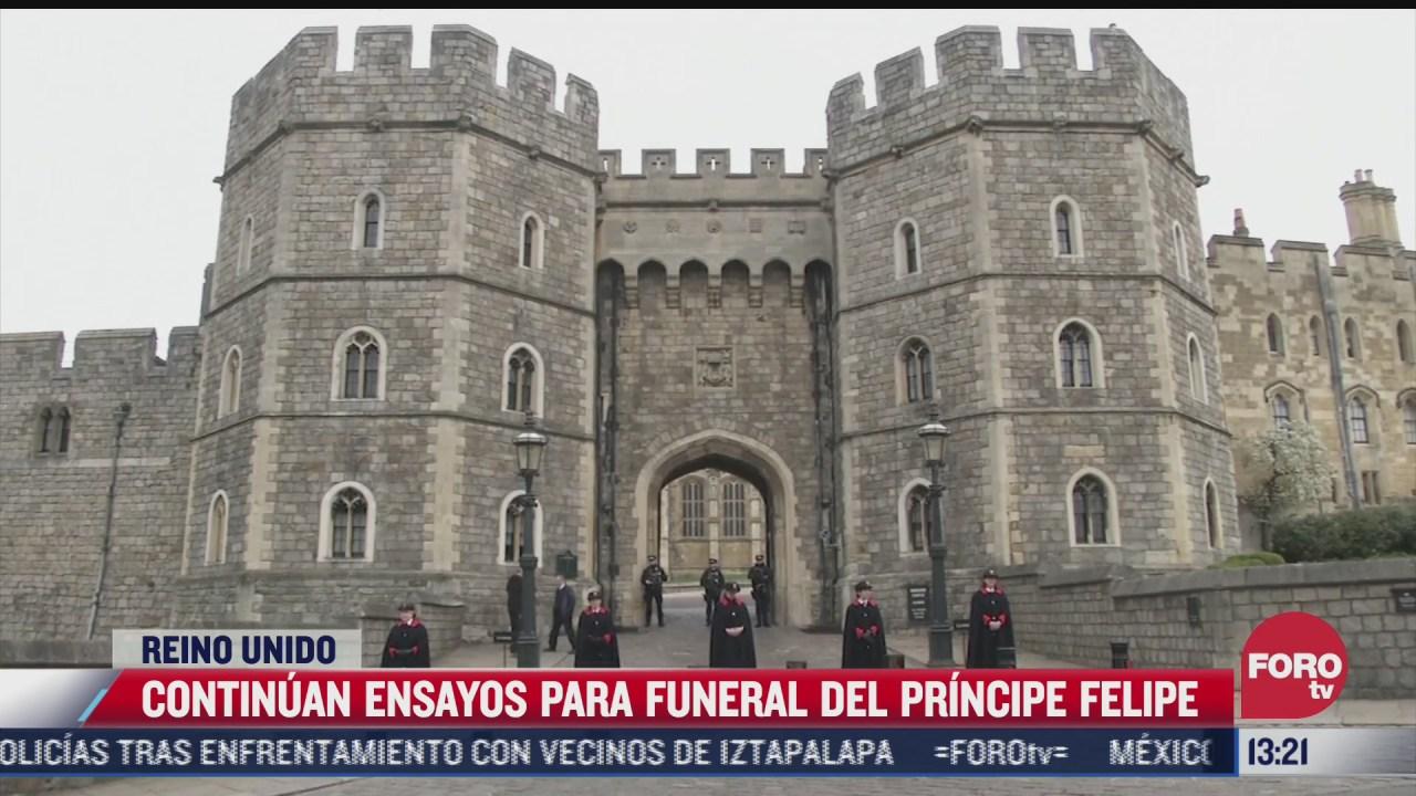 continuan ensayos para funeral del principe felipe