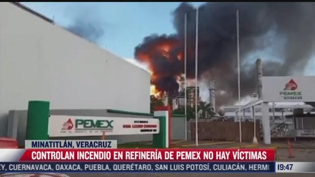 controlan incendio en refineria lazaro cardenas en minatitlan veracruz