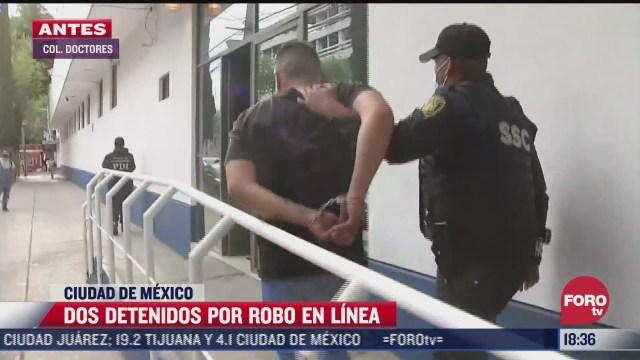 detienen a dos hombres que intentaron cometer un robo en cdmx
