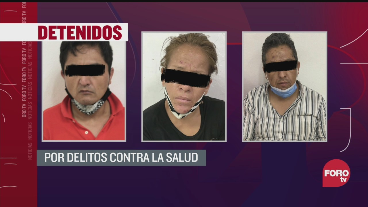 detienen a tres personas por delitos contra la salud en iztapalapa