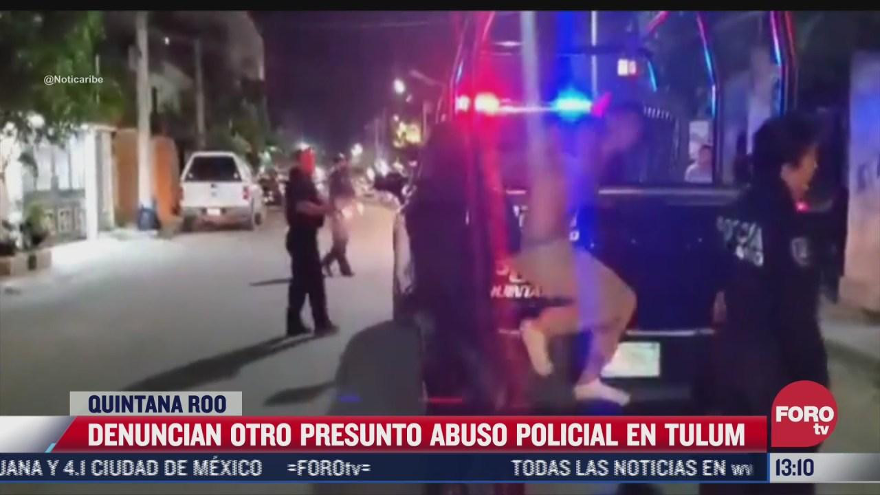 difunden nuevo video de presunto caso de abuso policial en tulum