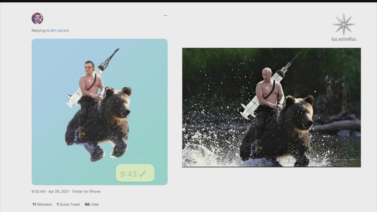ebrard tuitea en ruso y desata ola de memes