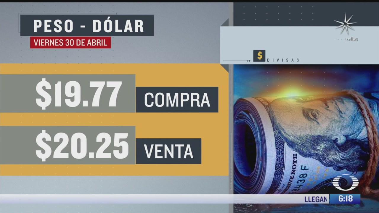 el dolar se vendio en 20 25 en la cdmx del 30 de abril del