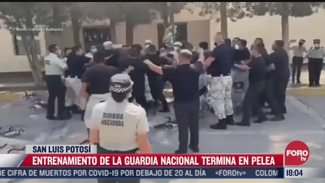 entrenamiento de la guardia nacional termina en pelea