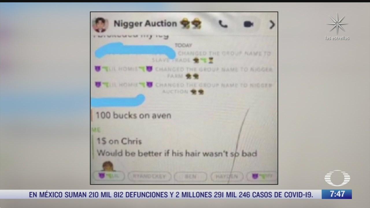 estudiantes blancos de eeuu subastan esclavos afroamericanos