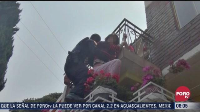 Policías de la SSC impiden suicidio de una joven en alcaldía Álvaro Obregón