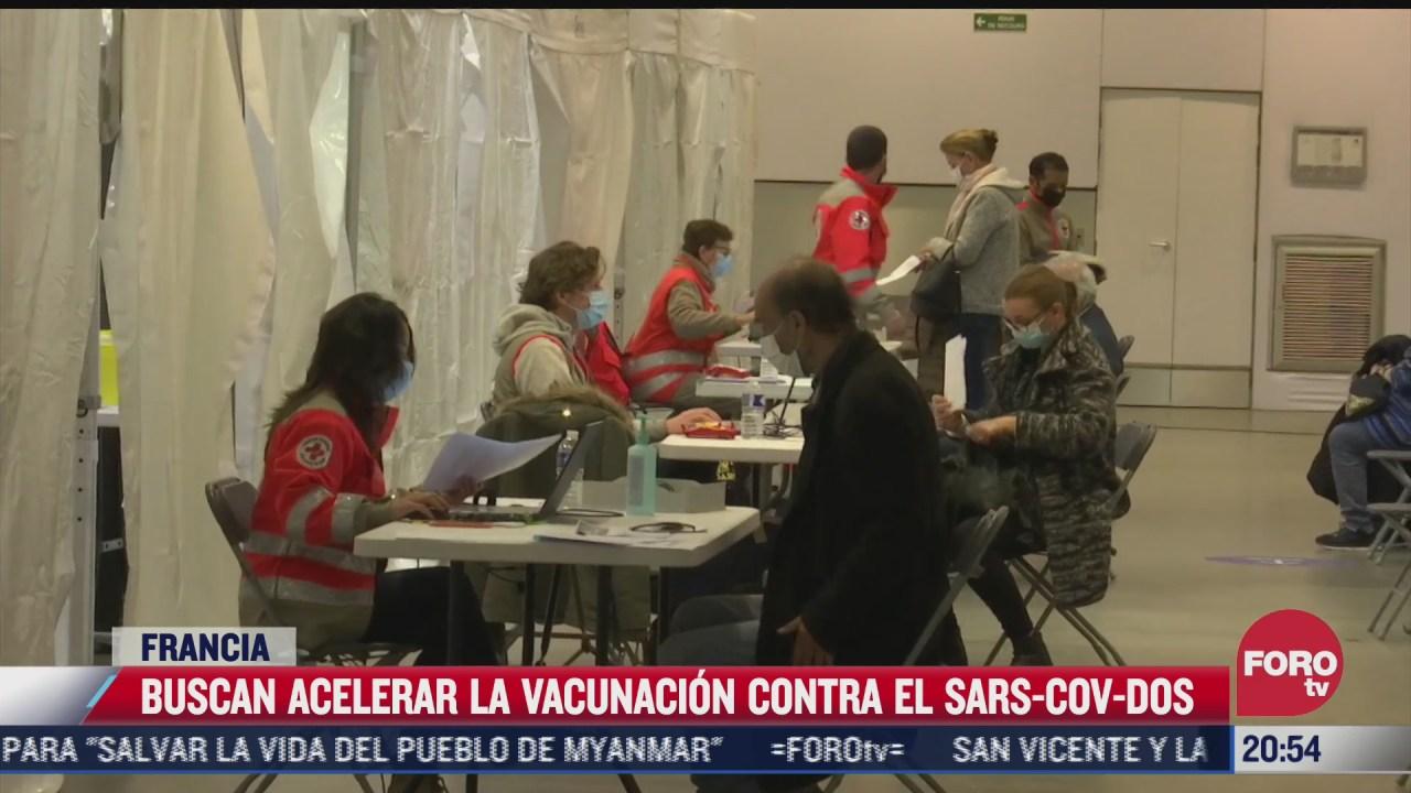 francia abre 35 vacunodromos para acelerar proceso