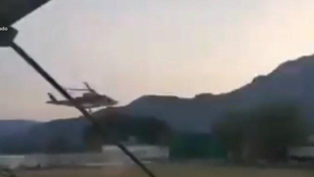 Lanzan piedras a helicóptero que trasladaba a bebé con deficiencias respiratorias por interrumpir partido de fútbol