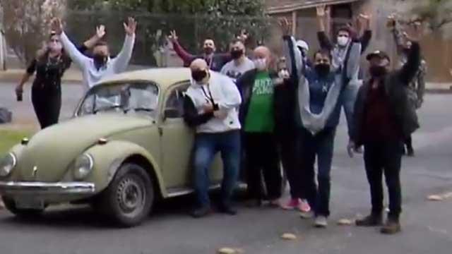 The teacher sells his car, the students buy their return
