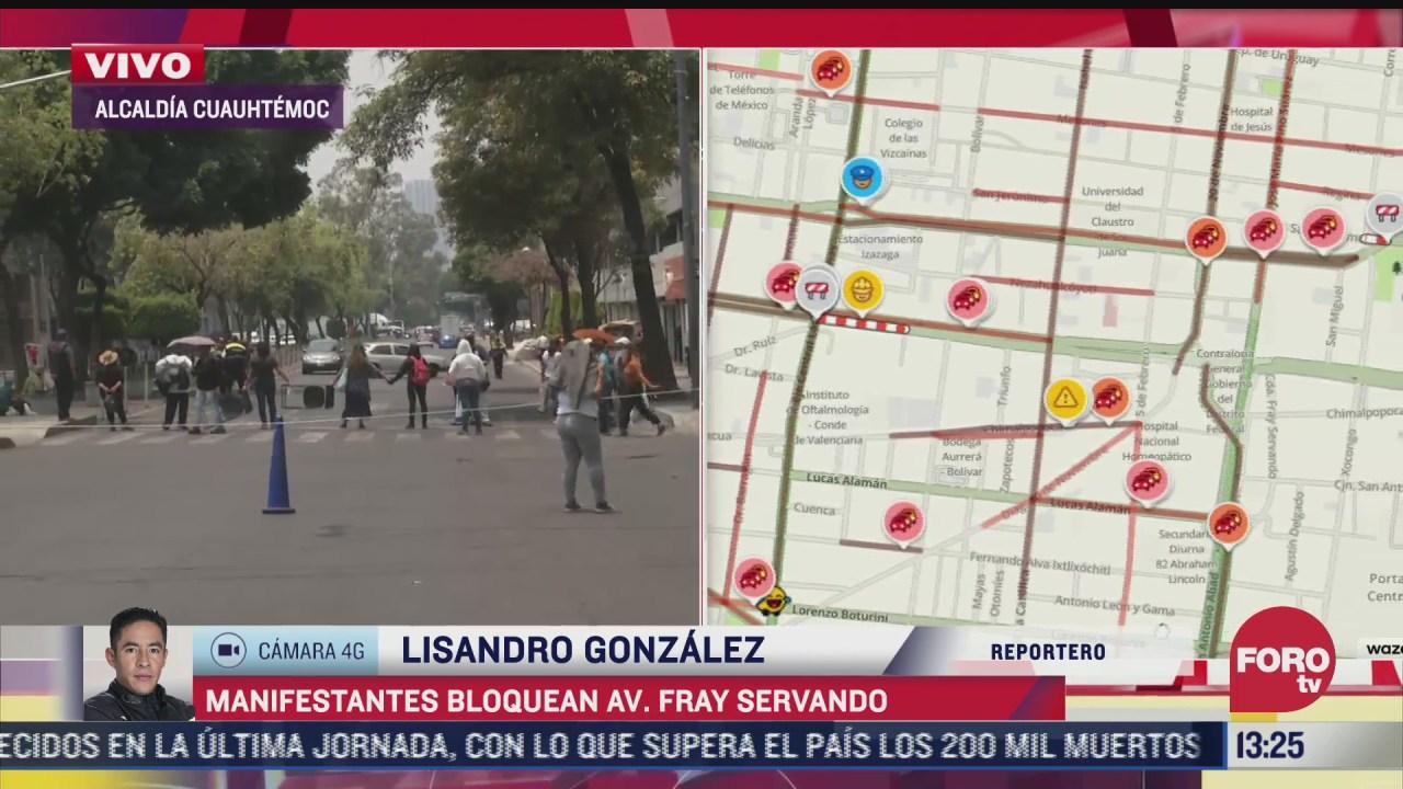 manifestantes bloquean avenida fray servando en cdmx