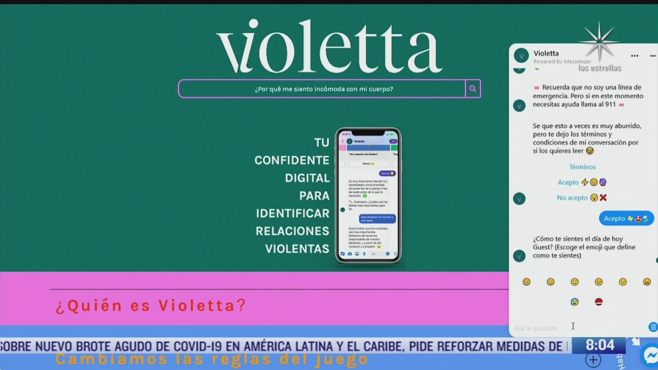 mexicanas crean a violeta confidente digital que apoya a mujeres victimas de violencia