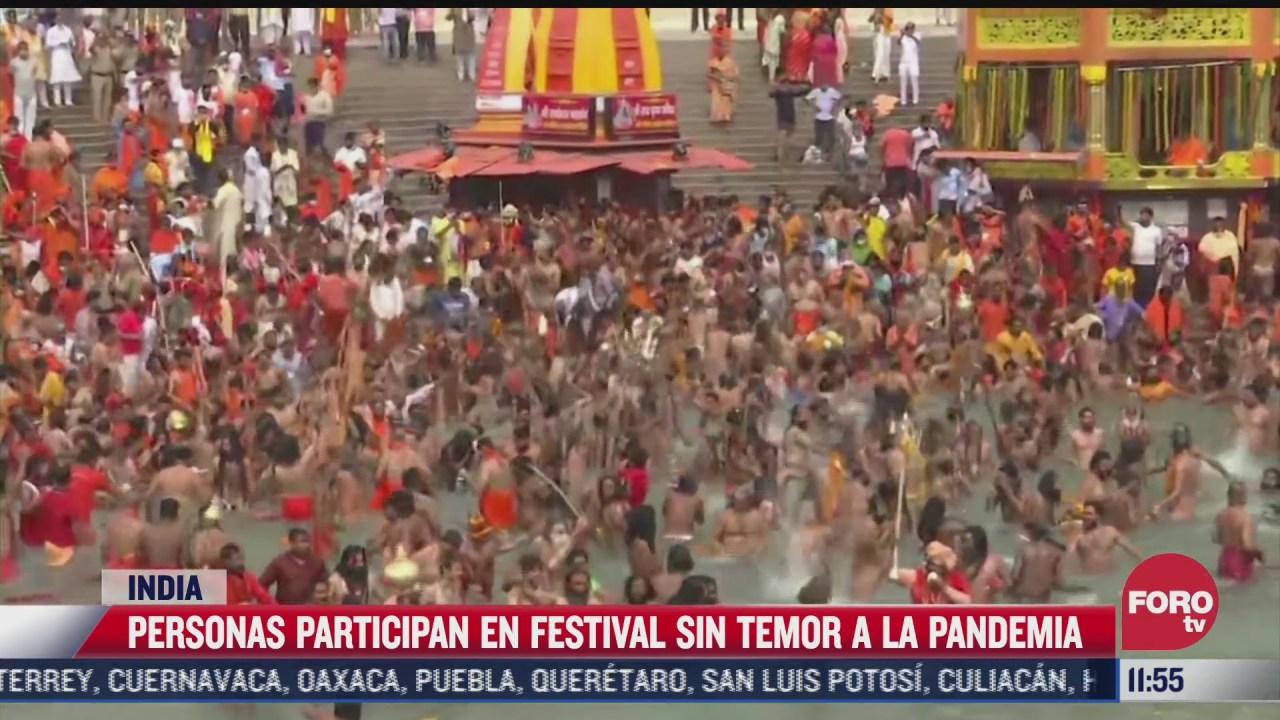 miles de fieles participan en festival sin temor a la pandemia de covid
