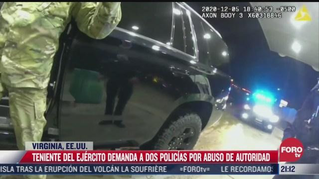 militar demanda a 2 policias por abuso de autoridad en eeuu