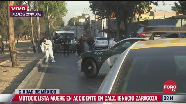 muere atropellado motociclista en calzada ignacio zaragoza