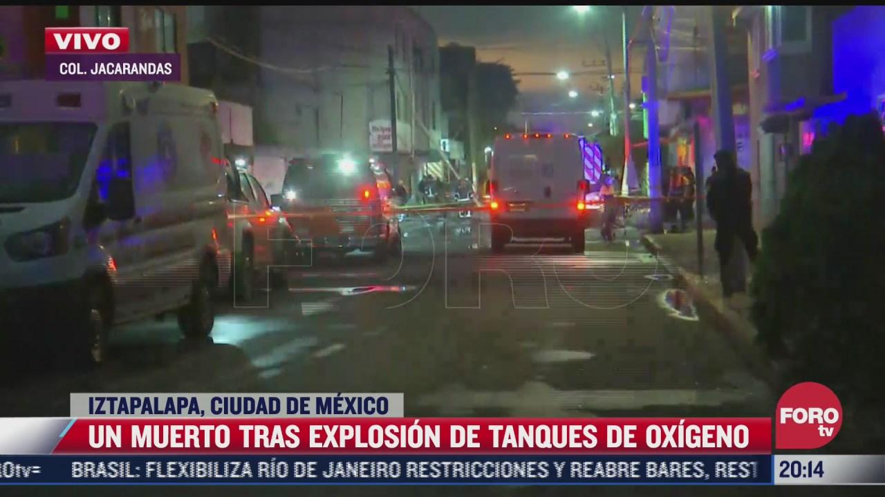 muere una persona tras explosion de tanques de oxigeno en iztapalapa