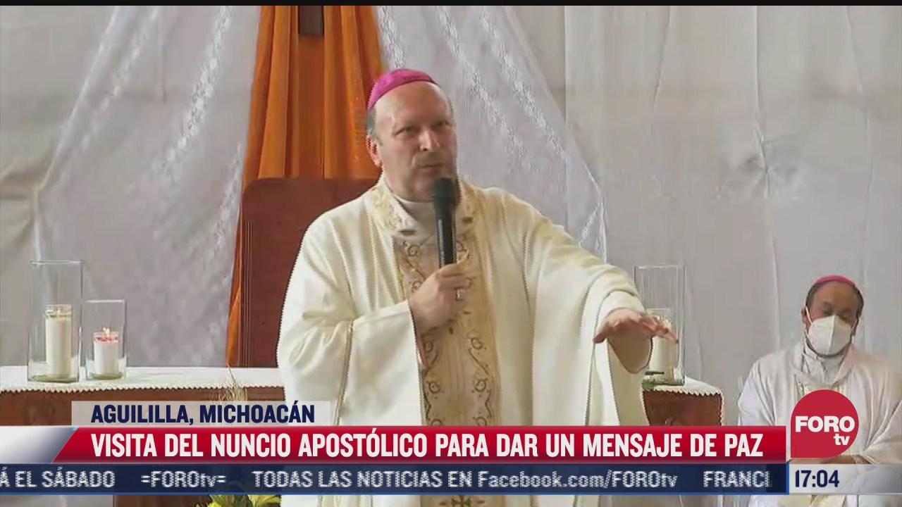 nuncio apostolico visita mexico para dar mensaje de paz