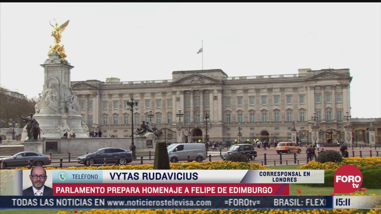 parlamento prepara homenaje tras muerte del principe felipe de edimburgo