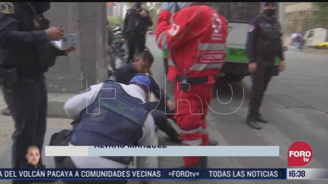 policia resulta herido tras accidente vial en reforma